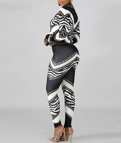 Woman in african print 2 piece set.