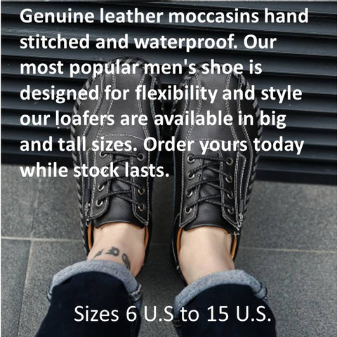 genuine leather loafers mens