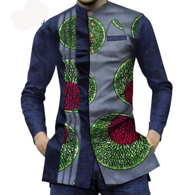 African Stylish Patchwork Print Shirt mens shirt VidaDeCalle