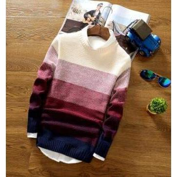 Casual O-Neck Slim Fit Knit Sweater para hombre suéteres VidaDeStreet