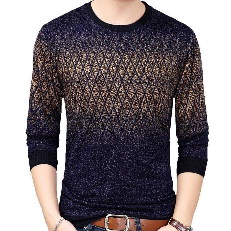 Casual argyle pullover mens sweaters VidaDeCalle
