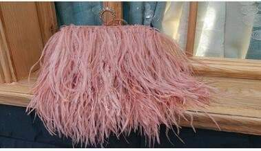 Designer Ostrich hair or strap bag femmes sac VidaDeCalle