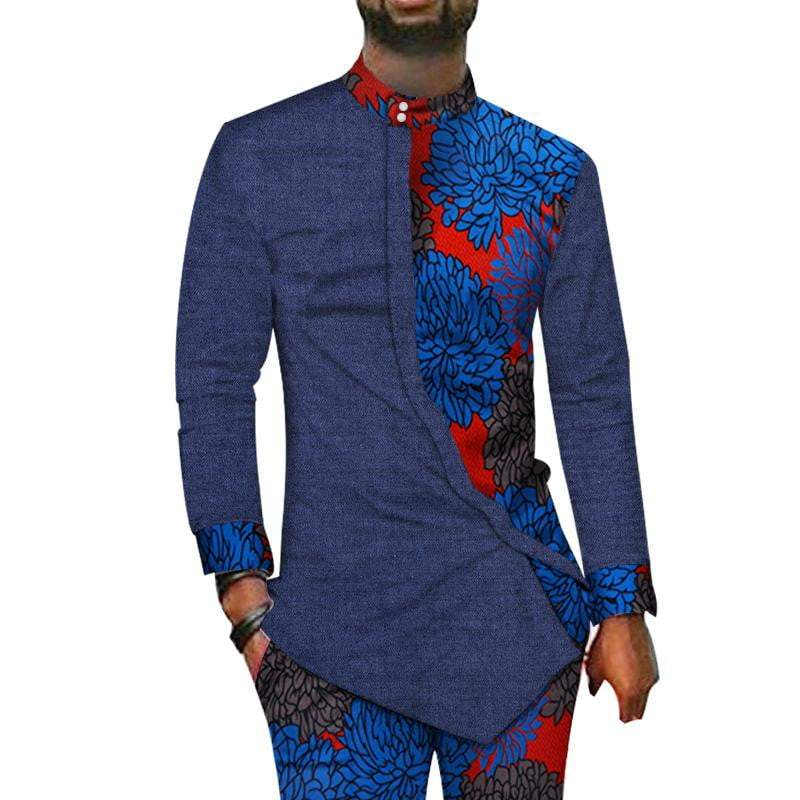 African dashiki style shirt and Pants men shirt VidaDeCalle