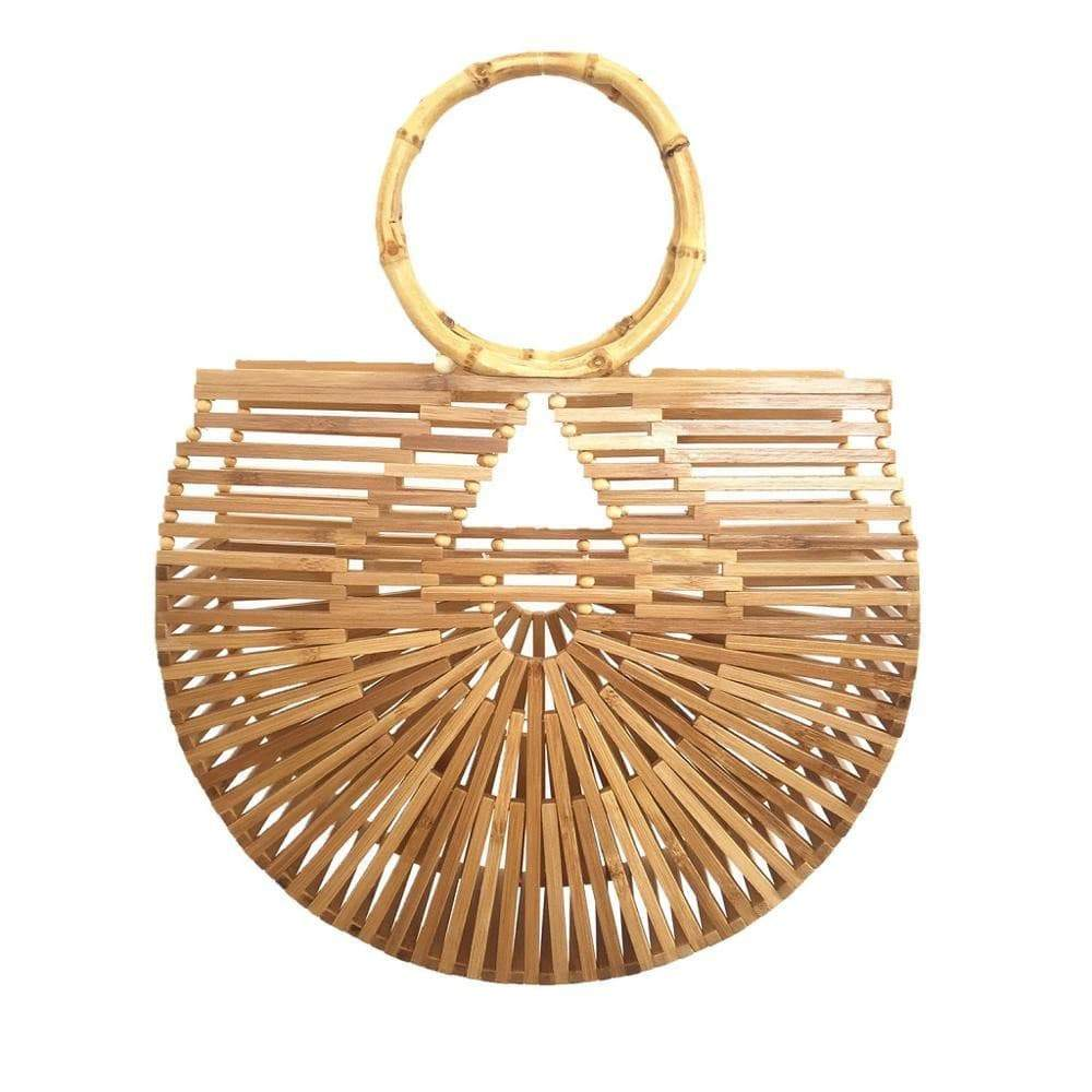 Full Hoop Half Moon Bamboo Bag Womens Bag VidaDeCalle