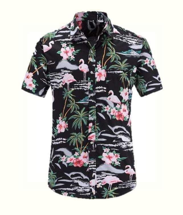 Flamingo Floral Style Shirt men shirt VidaDeCalle