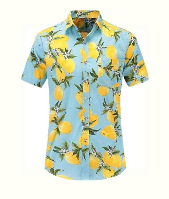 Fruity Lemon Floral Style Shirt men shirt VidaDeCalle