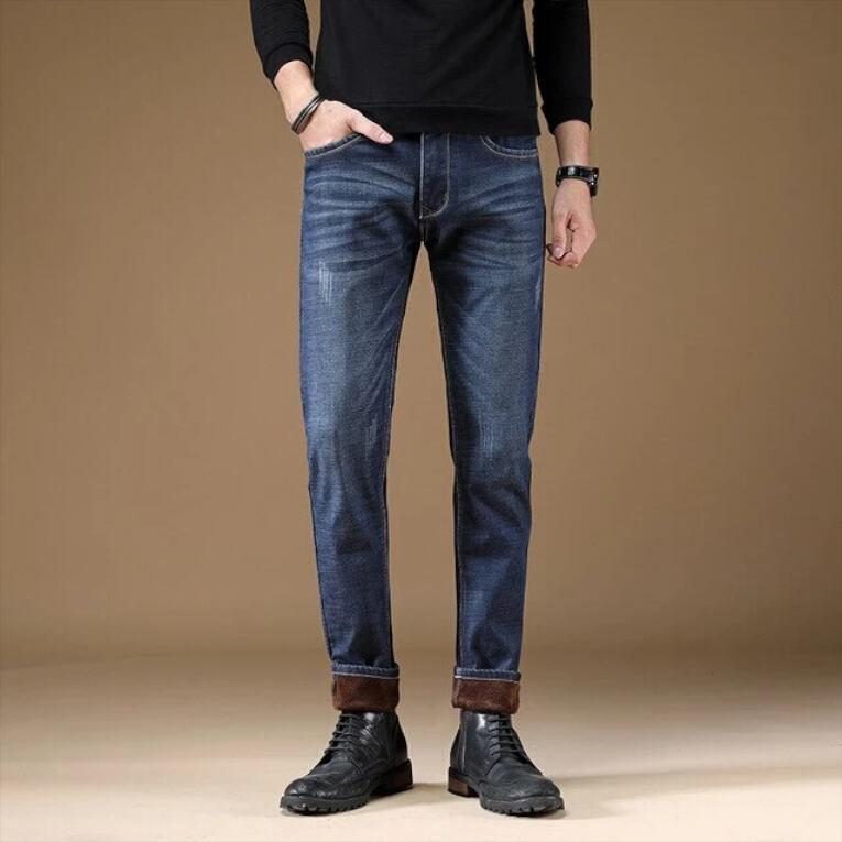 Mans gevoerde Slim Fit jeans winter jeans VidaDeCalle