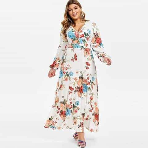 Floral Boho Maxi Dress Plus Size  VidaDeCalle