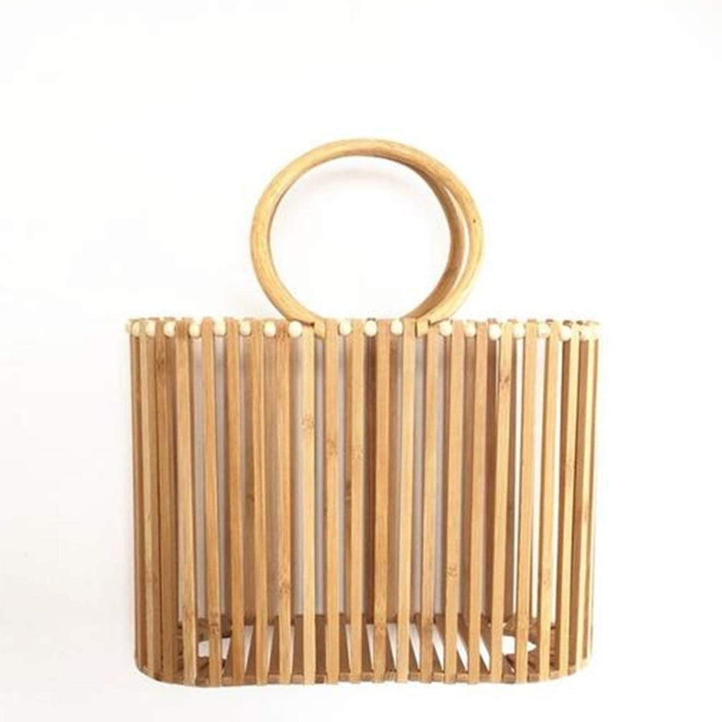 Handmade Ladies Luxury Designer Bamboo Tote Bag womens bag VidaDeCalle