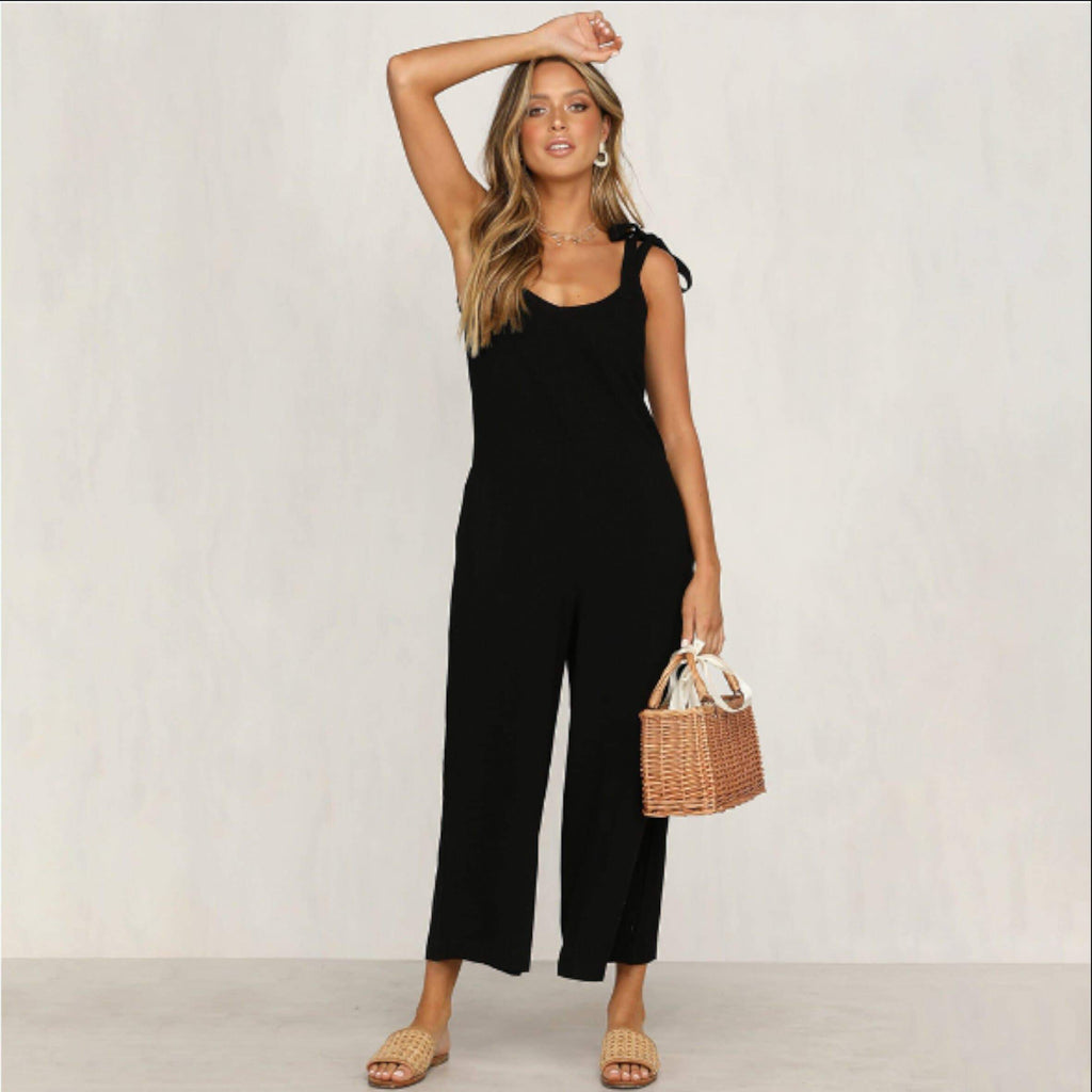 Black Low Back Jumpsuit womens jumpsuit VidaDeCalle