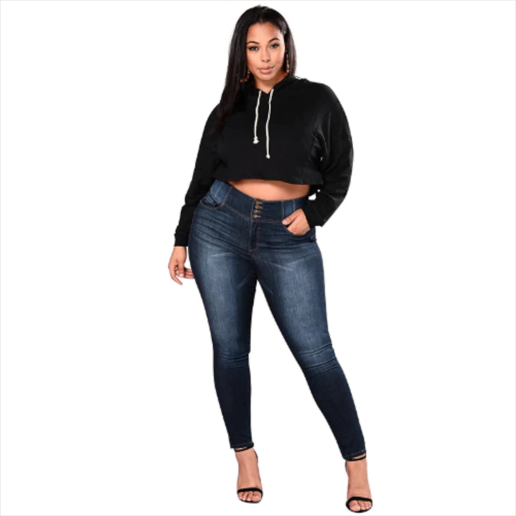 Stretchjeans mit hoher Taille VidaDeCalle