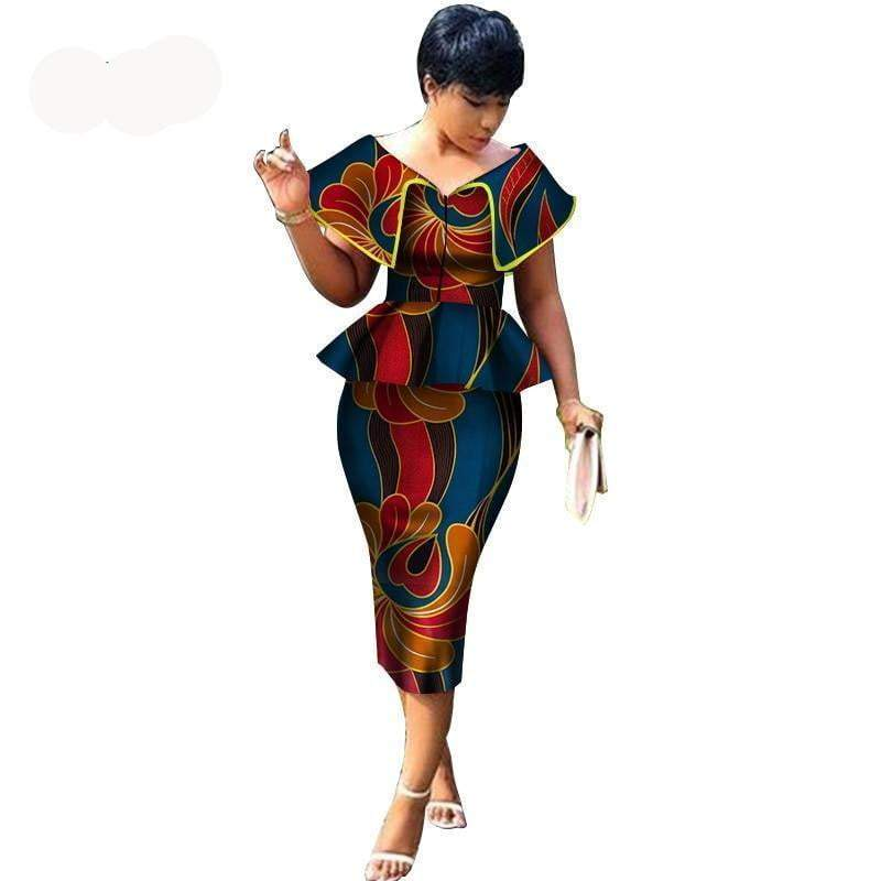 Impression de cire africaine | 2 pièces | Jupe Top femme robe VidaDeCalle