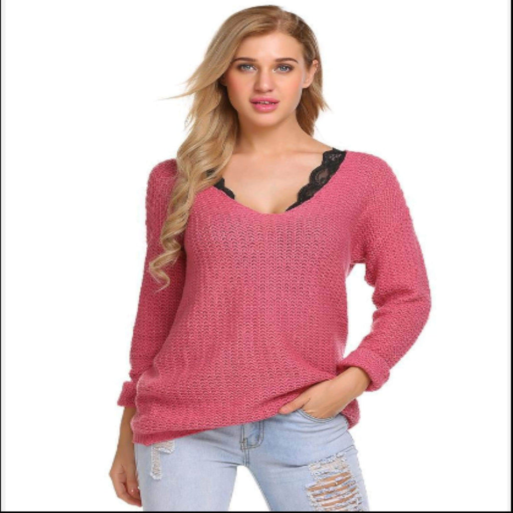 Pastel Pink Sweater Womens Sweaters VidaDeCalle