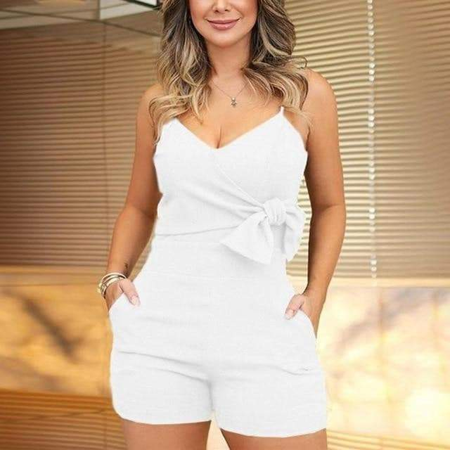 V-Neck Spaghetti Strap playsuit womens jumpsuit VidaDeCalle