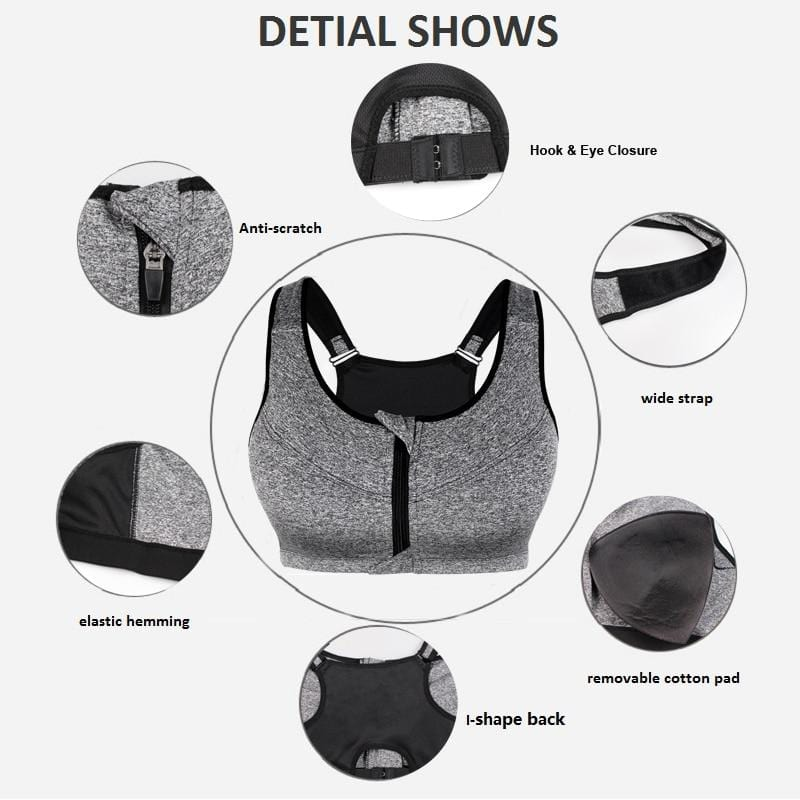 Plus Size Seamless Sports Bra - details page