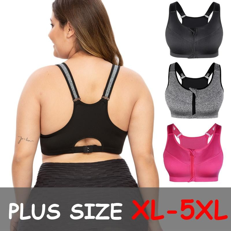Plus Size Seamless Sports Bra - Rückansicht