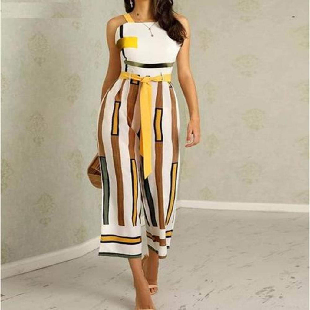 Backless Wide Leg Jumpsuit, Plus Sizes jumpsuit VidaDeCalle