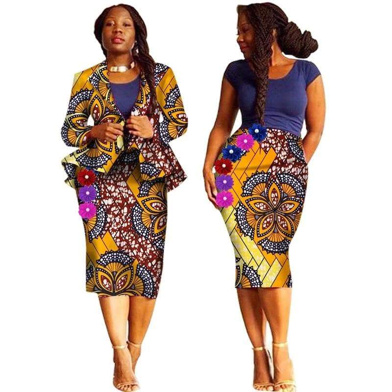 African Cotton Print Suit  VidaDeCalle