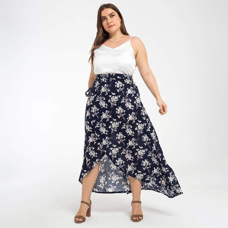Plus Size, Chiffon Maxi Skirt Womens Skirts VidaDeCalle