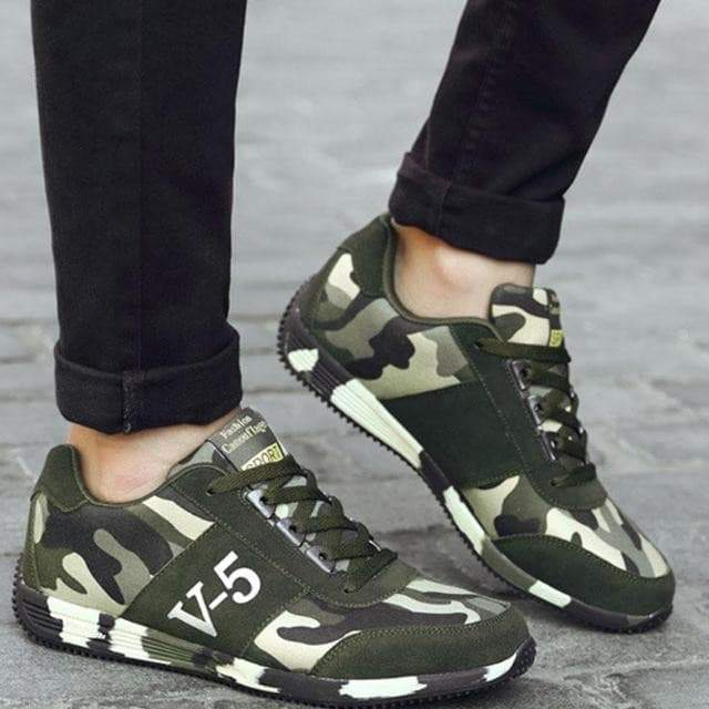V5 Bounce Camouflage Niedrige Turnschuhe VidaDeCalle