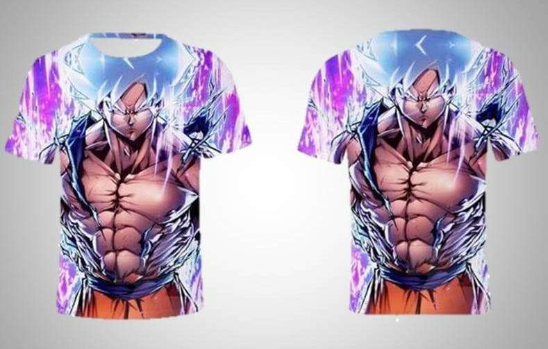 T-shirt Ultra Instinct Goku Final Form VidaDeCalle