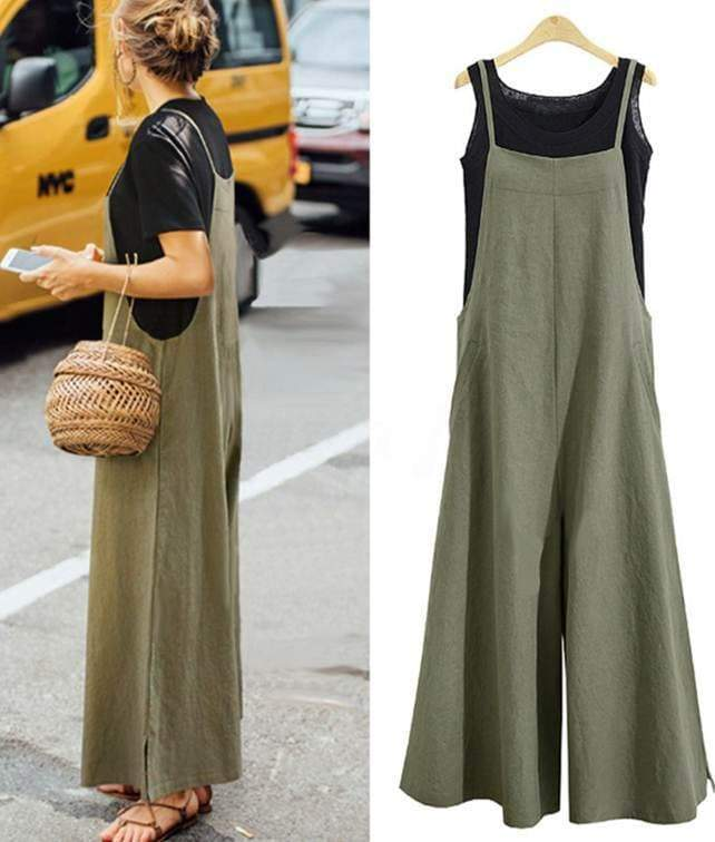 Green Strappy Solid Comfy fit Jumpsuits womens jumpsuit VidaDeCalle