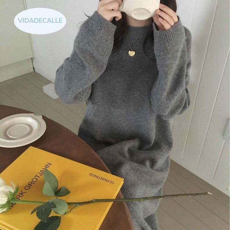 Cashmere Sweater Dress woman dress VidaDeCalle