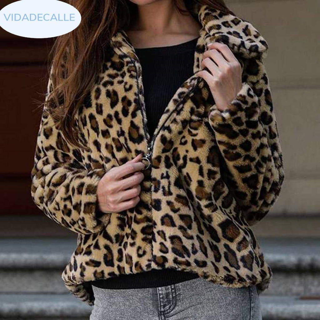 Stylvolle Plus Size Super Warm Faux Fur jas VidaDeCalle