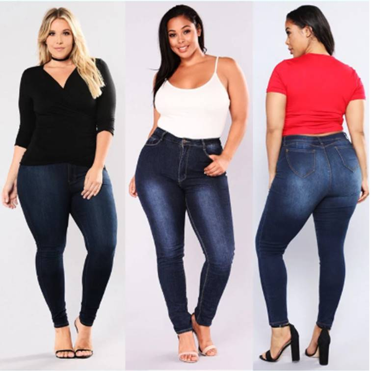 High Waist Plus Size Casual  Jeans women jeans VidaDeCalle