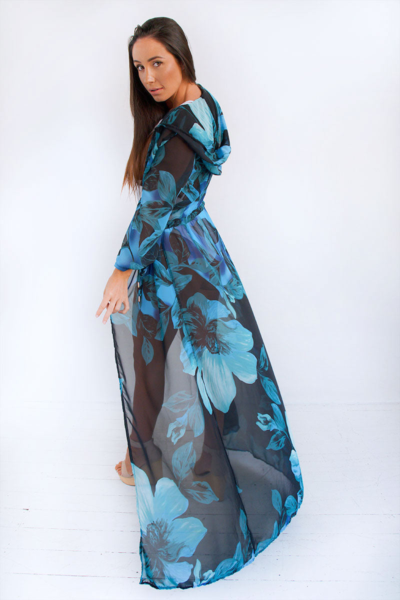 Eva Kaftan - Blue Flowers LIMITED EDITION