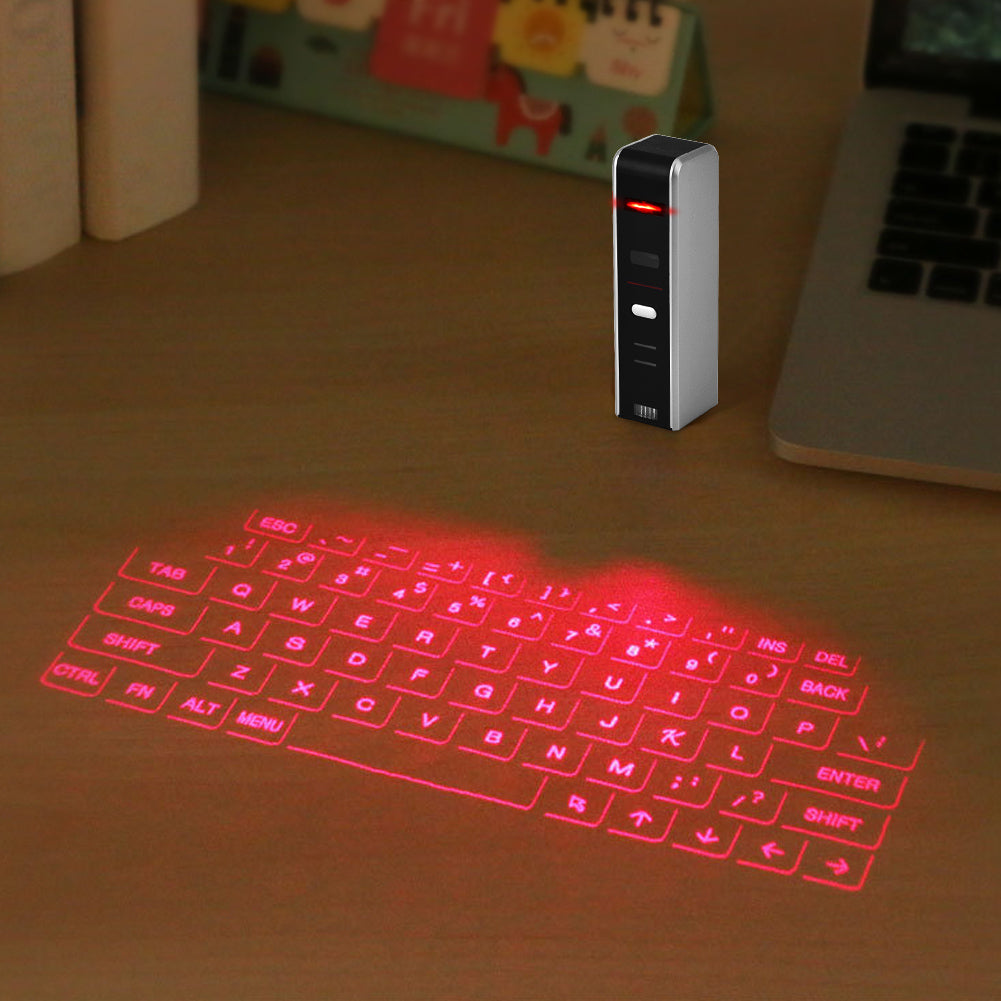 Wireless Bluetooth Mini Portable Laser Virtual Projection Keyboard
