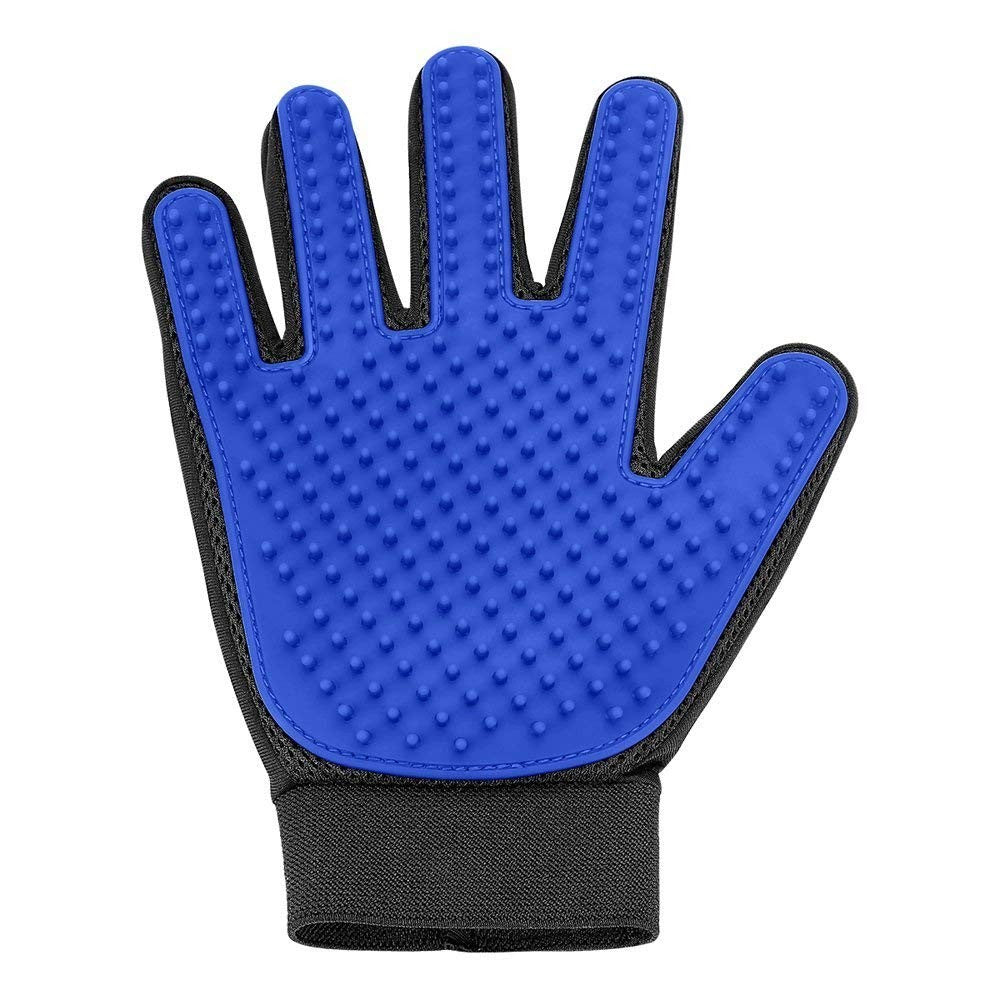 Pet Grooming Glove - Gentle Deshedding Brush Glove