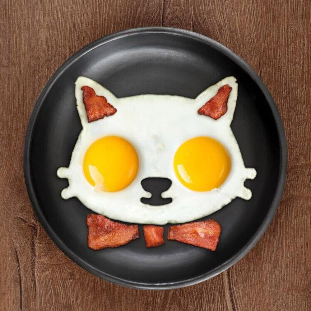 New Kitchen Silicone Egg Shaper Cat Fried Eggs Mould Cute Cat Interesting Cooking Mould
