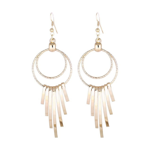 Lidavi Round Alloy Earrings Europe and America Exaggerated Irregular Paws Tassel Earrings For Women Punk Party Jewelry Gift 2018