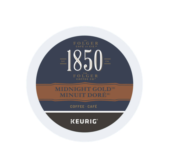 1850 Folgers Midnight Gold K-Cup® Recyclable Coffee Pods (Box of 24)