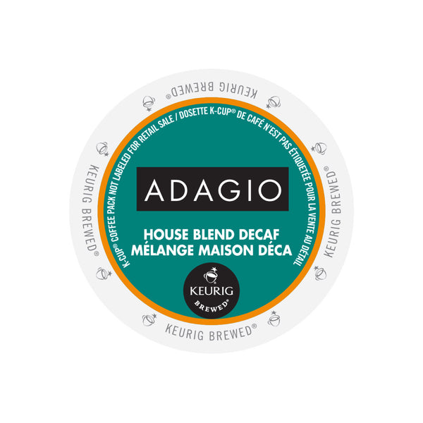 Adagio House Blend Decaf Box Of 24 K Cup 174 Pods