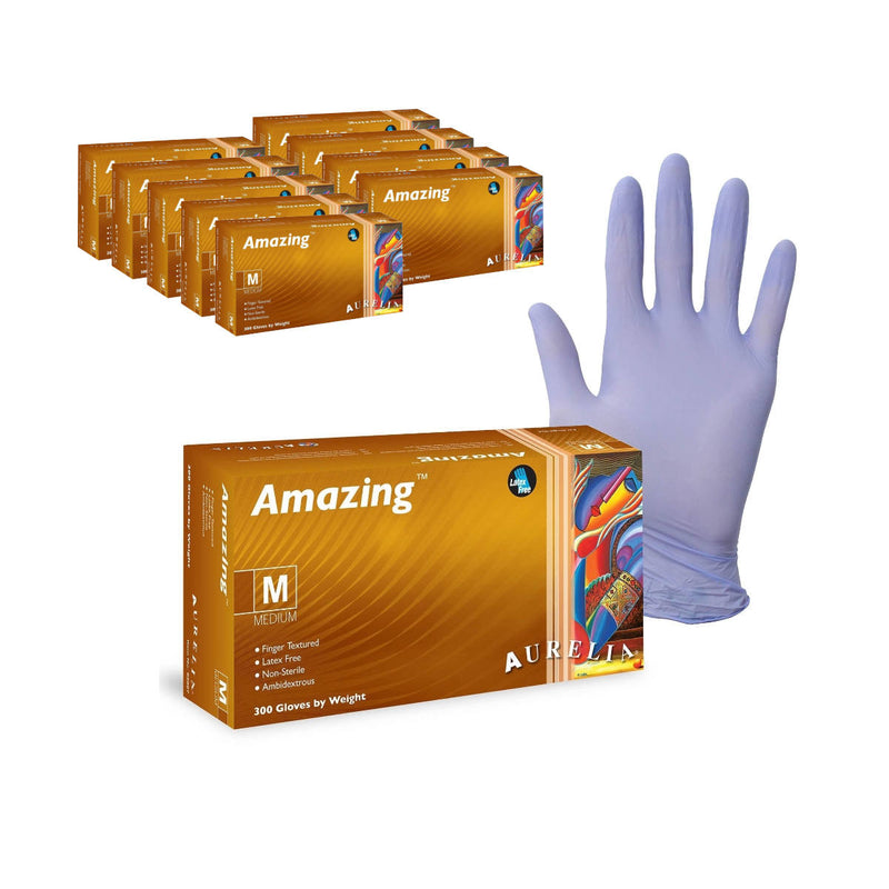 Amazing™ Bulk Nitrile Latex-Free Disposable Gloves (Case of 3000) - Medium