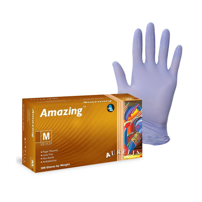 Amazing™ Nitrile Latex-Free Disposable Gloves (Box of 300) - Medium