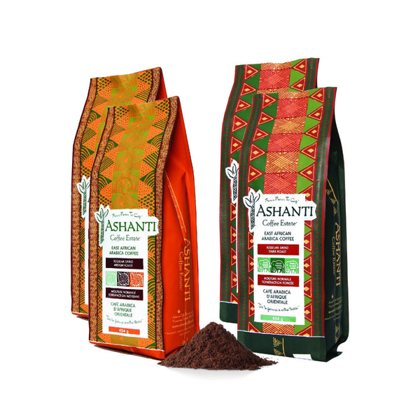 Ashanti Artisan African Ground Coffee Variety Pack (4lb)