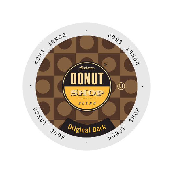 Authentic Donut Shop Original Dark Roast Single-Serve Coffee Pods (Case of 96)