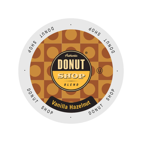 Authentic Donut Shop Vanilla Hazelnut Single-Serve Coffee Pods (Case of 96)