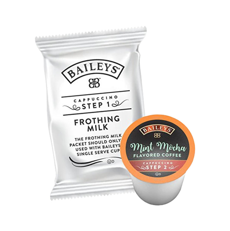Baileys 2-Step Mint Mocha Creamy Cappuccino (Coffee Pods & Frothing Packets - Case of 36)