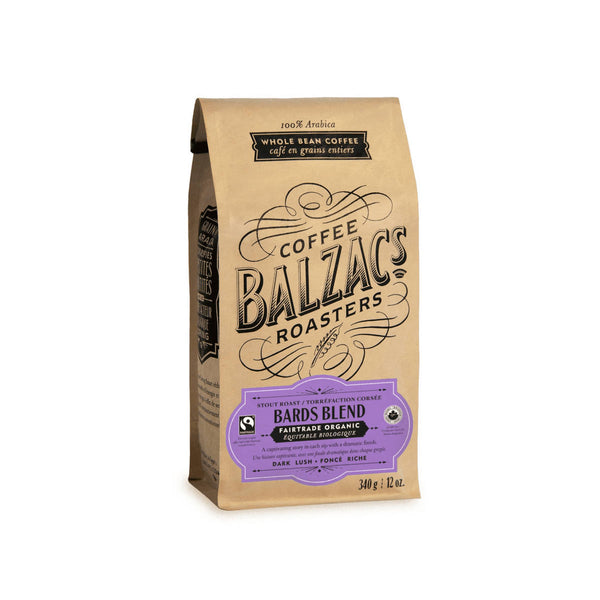 Balzac's Fair Trade Bards Blend Organic Whole Bean Coffee (12 oz.)