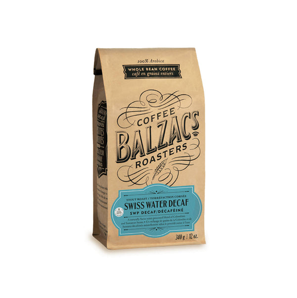Balzac's Decaf Swiss Water Process Whole Bean Coffee (12 oz.)