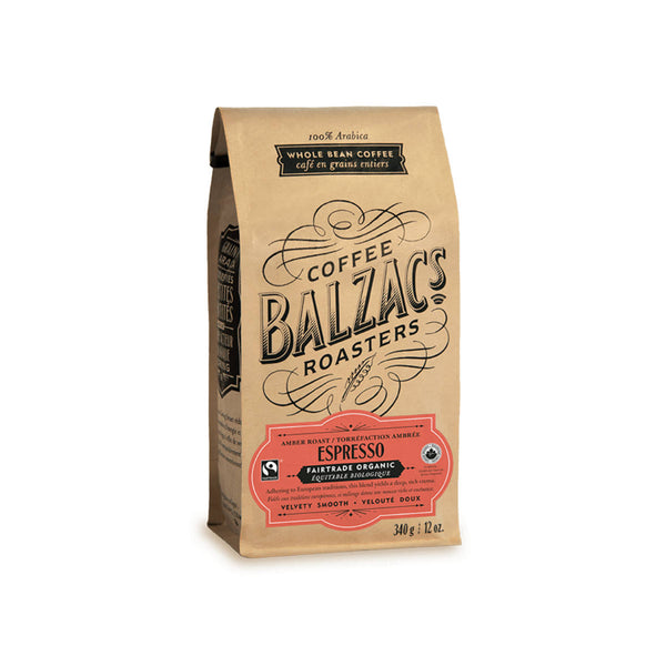 Balzac's Fair Trade Espresso Blend Organic Whole Bean Coffee (12 oz.)