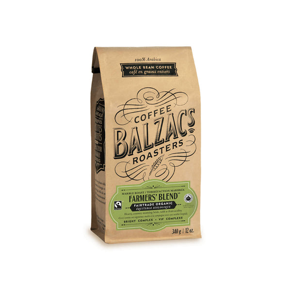 Balzac's Fair Trade Farmers' Blend Organic Whole Bean Coffee (12 oz.)