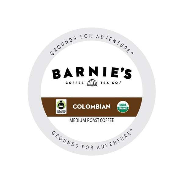 Barnie's Fair Trade Colombian Single-Serve Coffee Pods (Box of 24)