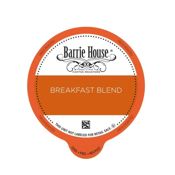 Barrie House Breakfast Blend Single-Serve Coffee Pods (Case of 96)