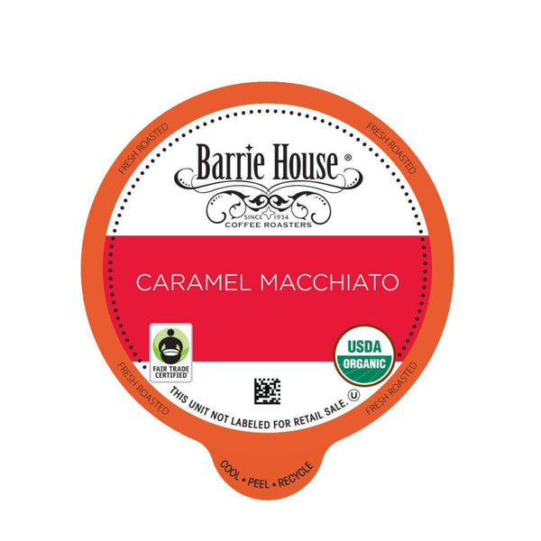 Barrie House Fair Trade Caramel Macchiato Single-Serve Coffee Pods (Case of 96)