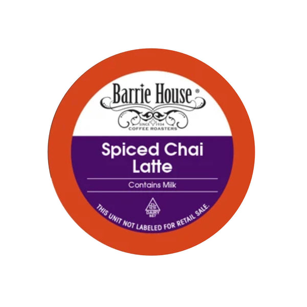 Barrie House Spiced Chai Latte Single-Serve Pods (Case of 96)